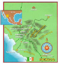 Mexico Copper Canyon Map